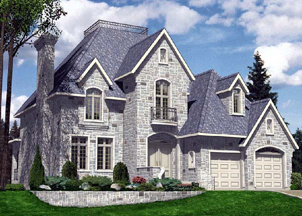 House Plan 48081 | European Style Plan with 3248 Sq Ft, 4 Bedrooms, 3 Bathrooms, 2 Car Garage Elevation