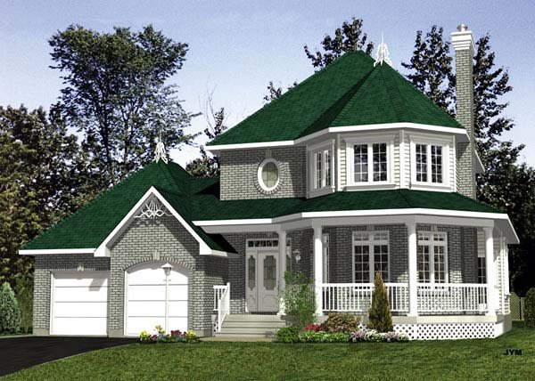 Victorian House Plan 48082 Elevation