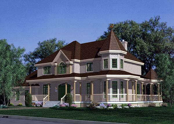 Victorian House Plan 48085 Elevation