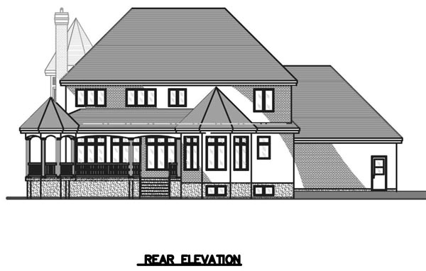 Victorian House Plan 48085 Rear Elevation
