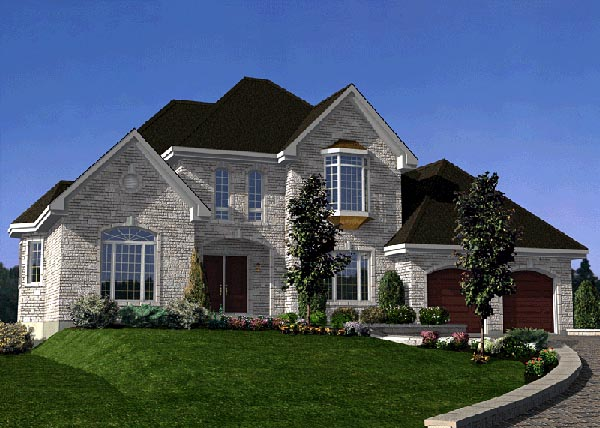 European House Plan 48087 Elevation