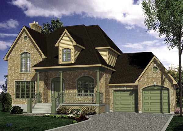 European House Plan 48088 Elevation