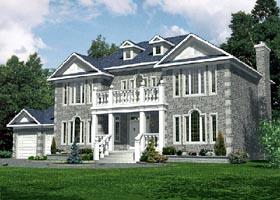 European House Plan 48089 Elevation