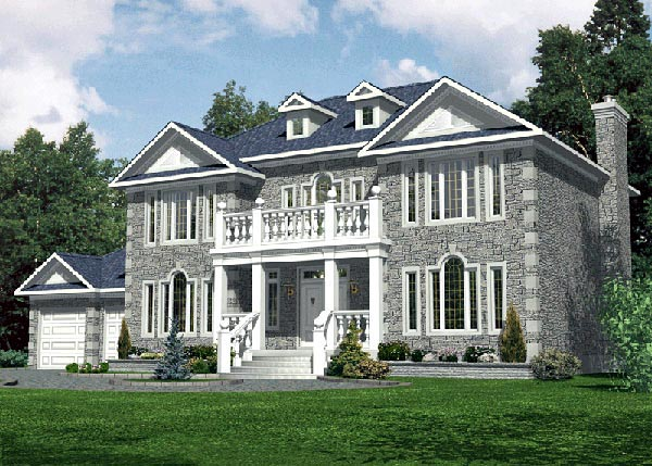 European House Plan 48089 Elevation