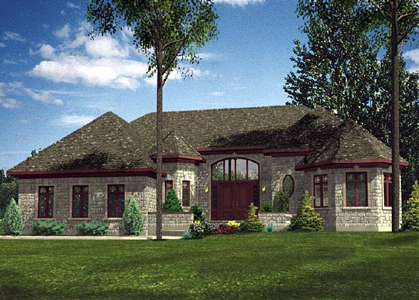 Contemporary House Plan 48091 Elevation