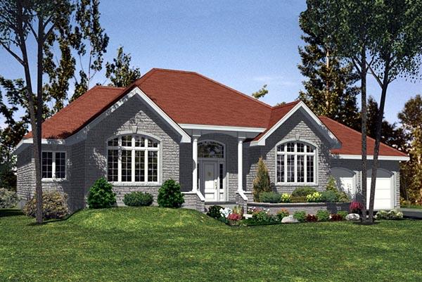 European House Plan 48095 Elevation