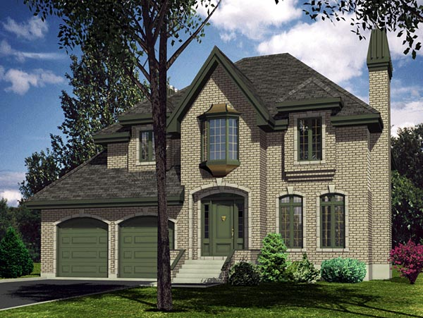 European House Plan 48097 Elevation