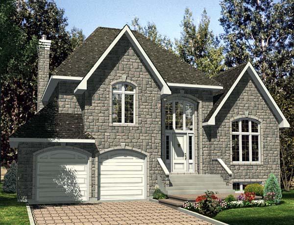 European House Plan 48104 Elevation