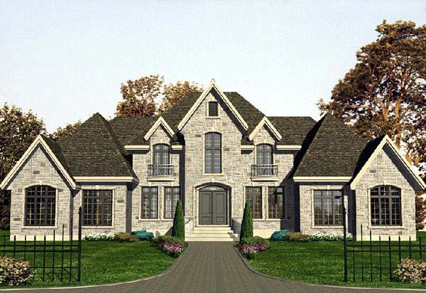 European House Plan 48106 Elevation
