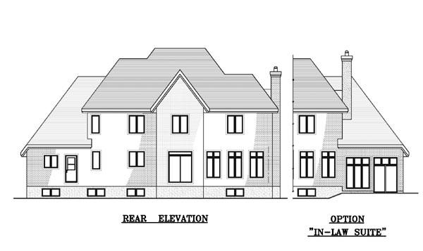 European House Plan 48106 Rear Elevation