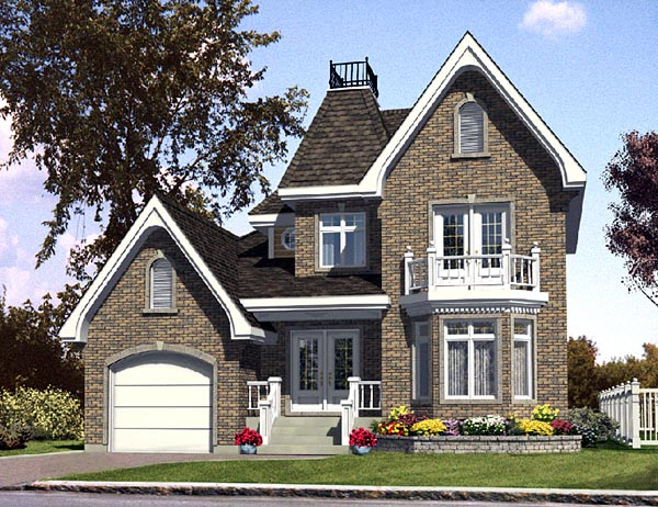 European House Plan 48107 Elevation