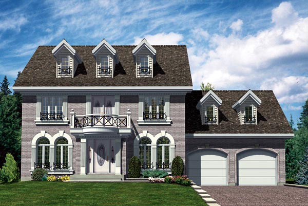 Colonial House Plan 48113 Elevation