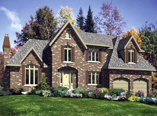 Victorian House Plan 48122 with 4 Beds, 3 Baths, 2 Car Garage Elevation