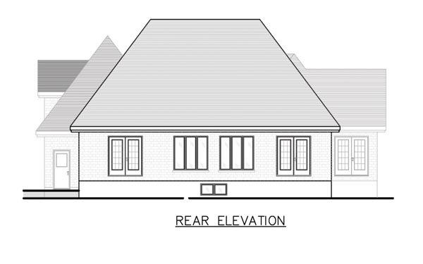 Victorian House Plan 48126 Rear Elevation