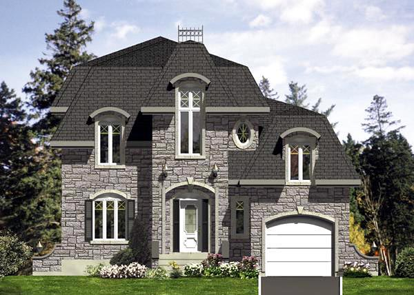European House Plan 48127 Elevation