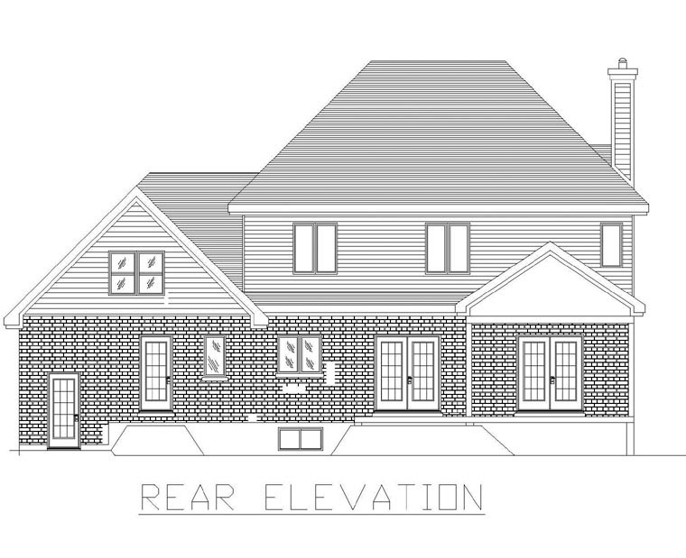 Traditional House Plan 48134 Rear Elevation