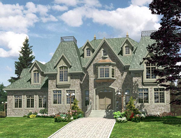 European House Plan 48136 Elevation
