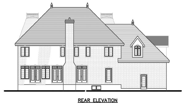 European House Plan 48136 Rear Elevation