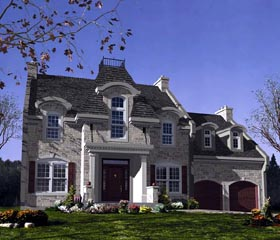 Victorian House Plan 48146 with 4 Beds, 3 Baths, 2 Car Garage Elevation