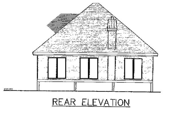 European House Plan 48147 Rear Elevation