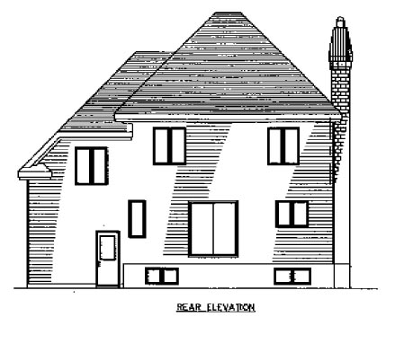 Victorian House Plan 48148 Rear Elevation