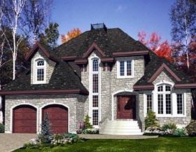 House Plan 48150 | Victorian Style Plan with 2177 Sq Ft, 3 Bedrooms, 2 Bathrooms, 2 Car Garage Elevation