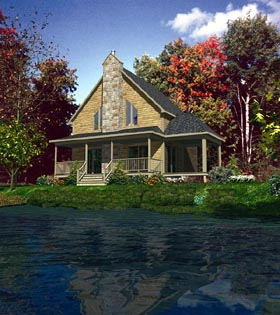 Country House Plan 48155 Elevation