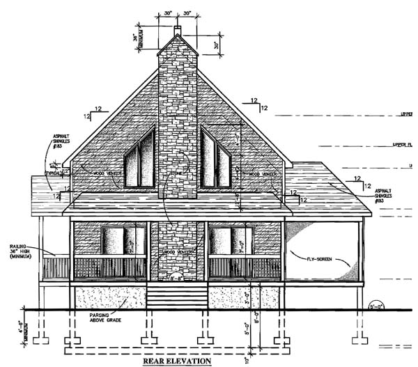 Country House Plan 48155 Rear Elevation