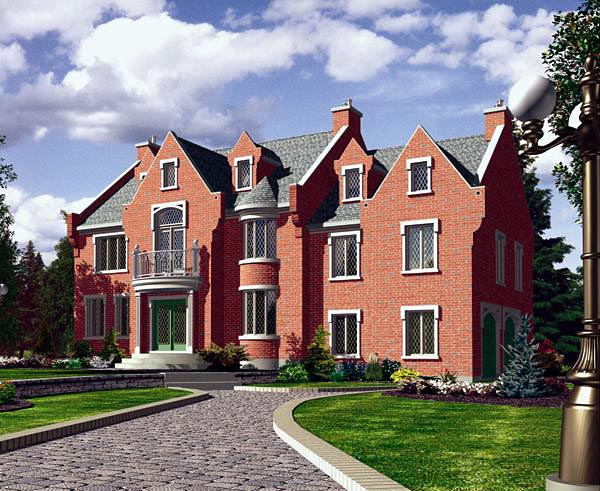 Victorian House Plan 48162 Elevation