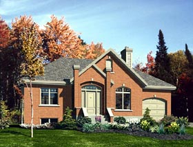 Narrow Lot , One-Story , Traditional House Plan 48166 with 3 Beds, 1 Baths, 1 Car Garage Elevation