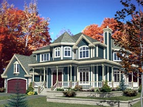Farmhouse House Plan 48176 Elevation