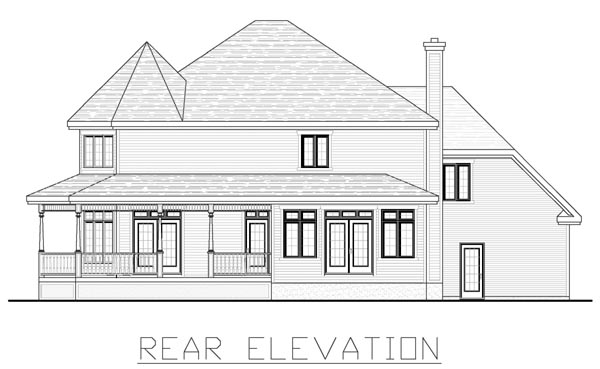 Farmhouse House Plan 48176 Rear Elevation