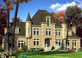 European House Plan 48180 Elevation