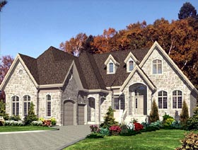 European House Plan 48182 Elevation
