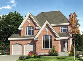 House Plan 48186 | Victorian Style Plan with 1532 Sq Ft, 3 Bedrooms, 2 Bathrooms, 2 Car Garage Elevation