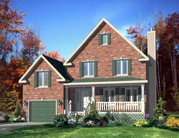 Country House Plan 48191 Elevation