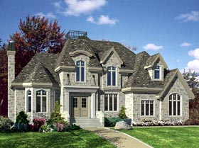 Victorian House Plan 48193 with 3 Beds, 2 Baths, 2 Car Garage Elevation