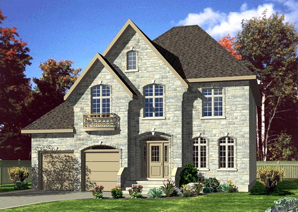 Tudor House Plan 48194 Elevation