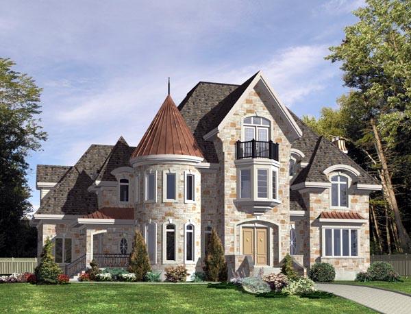European House Plan 48195 Elevation
