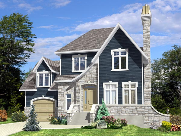 European House Plan 48199 Elevation