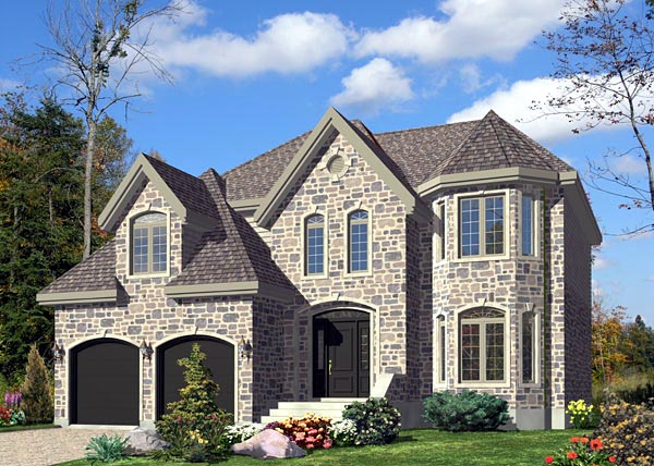 House Plan 48204 | Victorian Style Plan with 2482 Sq Ft, 3 Bedrooms, 3 Bathrooms, 2 Car Garage Elevation