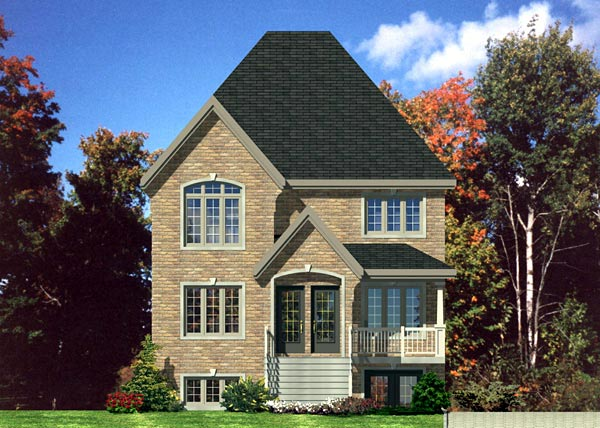 European Multi-Family Plan 48213 with 9 Beds, 3 Baths Elevation