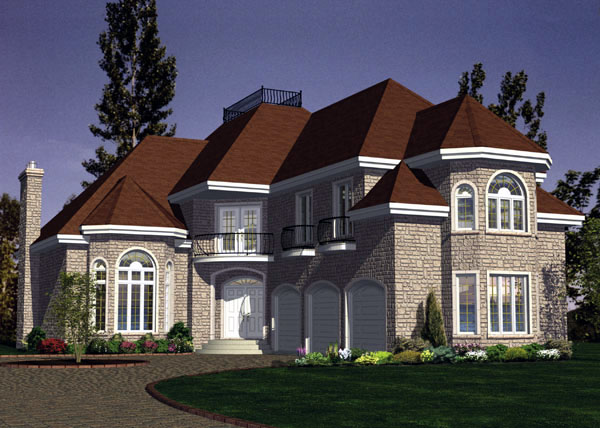 European House Plan 48215 Elevation