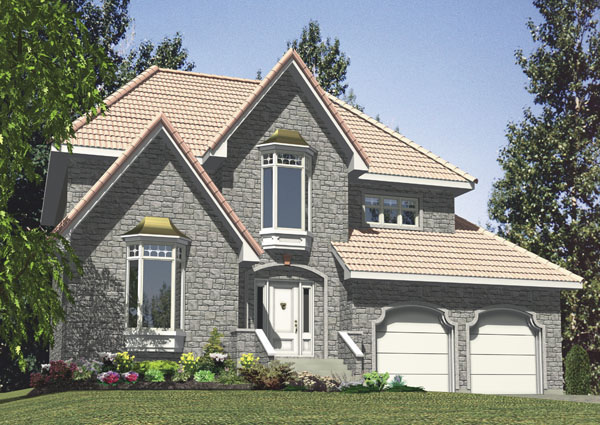 European House Plan 48216 Elevation