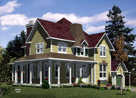Country House Plan 48217 Elevation