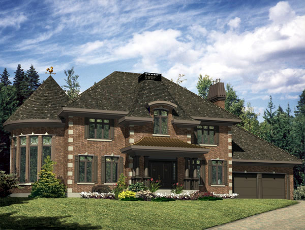 European House Plan 48219 Elevation