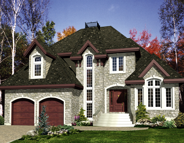 European House Plan 48220 Elevation