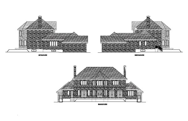 Colonial, European House Plan 48225 with 3 Beds, 3 Baths, 2 Car Garage Picture 1