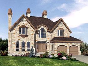 European House Plan 48226 with 4 Beds, 3 Baths, 2 Car Garage Elevation