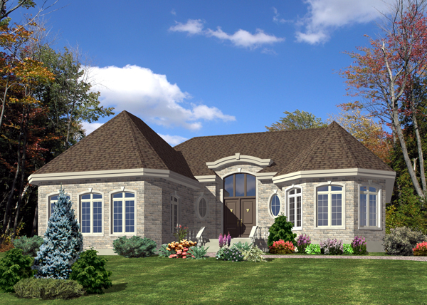 House Plan 48227 | Bungalow Style Plan with 1776 Sq Ft, 2 Bedrooms, 2 Bathrooms, 2 Car Garage Elevation